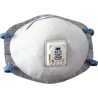 3M OH&ESD Half Facepiece Maintenance-Free Particulate Respirators, P95, Oil Proof, 10/Box