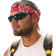 Ergodyne® Chill-Its® Bandana/Headband, Cotton, One Size, Tie, Red Western
