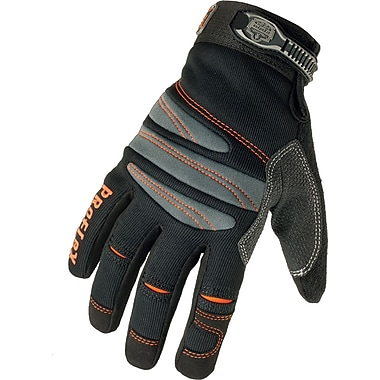 Ergodyne® ProFlex® Mechanics Gloves, Spandex, Hook & Loop Cuff, Large, Black