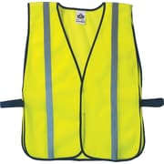 Ergodyne GloWear® Non-Certified Vest, Polyester Mesh, One Size, Hook & Loop; Lime