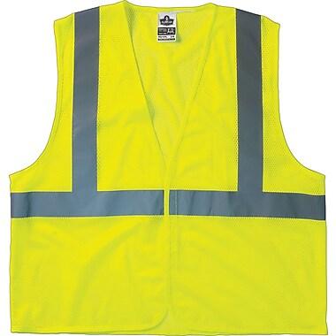 Ergodyne GloWear® Class 2 Economy Vest; Polyester Mesh, Hook & Loop, Lime