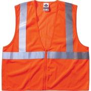 Ergodyne GloWear® Class 2 Economy Vest, Polyester Mesh, Zipper
