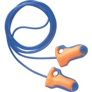 Howard Leightning® Laser Trak® Corded Detectable Earplugs, Orange/Blue, 32 dB, 100/Box