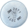 3M OH&ESD 2000 Particulate Filters, P95, Non-Oil Particulates, 2/Pack