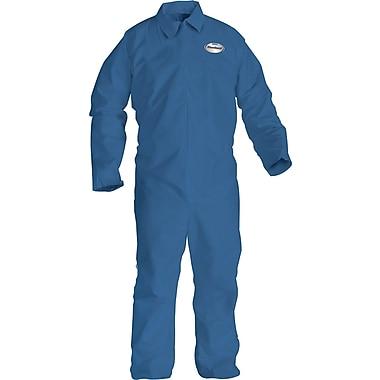 KleenGuard® Flame Resistant Coveralls, Spunlace Nonwoven, XL Size, Zipper Front, Blue, 25/Carton