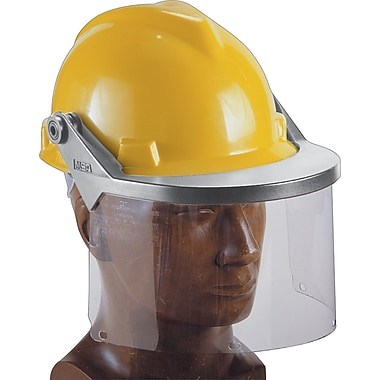 MSA Safety® Defender® Faceshield Frames, Slotted, V-Gard Caps w/Lockdown Clip