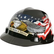 MSA Safety® Freedom Series™ Helmets, Polyethylene, Fas-Trac Ratchet, Cap, American Eagle