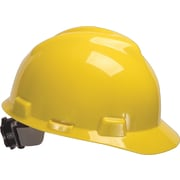 MSA Safety® V-Gard® Slotted Protective Caps and Hats, Polyethylene, Standard, Staz-On, Cap, Red
