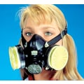 MSA Safety Comfo Classic® Half Facepiece Dual Cartridge Respirator, Silicone, Large