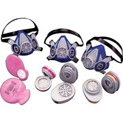 MSA Safety Advantage® Cartridge Respirators, P100, Organic Vapors, Chlorine, Sulfur Dioxide, 2/Pack