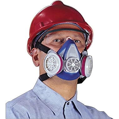 MSA Safety Advantage® Half Facepiece Air Purifying Respirator, 2-Piece Neckstrap, Blue, Medium