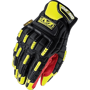 Mechanix Wear® ORHD Gloves, Spandex/Synthetic, Hook & Loop Cuff, Large, Black/Red/Yellow