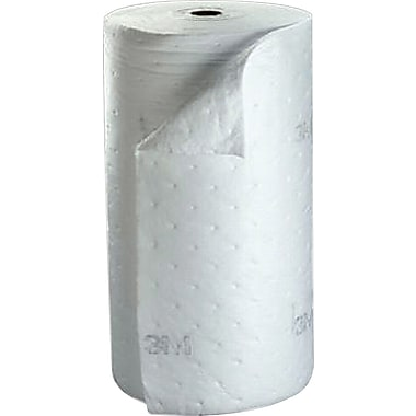 3M Petroleum Sorbent Rolls, HP-100, Environmental Safety Roll, 38in. x 144', 73 gal