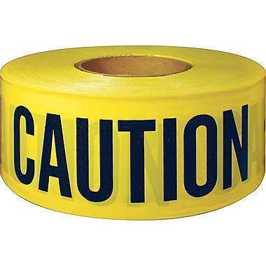 Intertape Polymer Group Danger, Caution/Barricade Tape, Yellow, 300' Length, 1/Roll