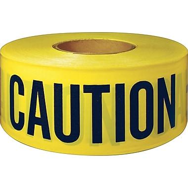 Intertape Polymer Group Danger, Caution/Barricade Tape, Yellow, 300' Length, 1/Roll