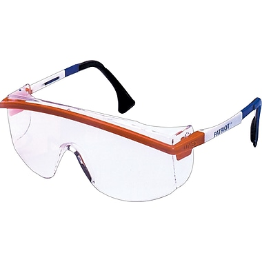 Sperian ANSI Z87 Astrospec 3000® Safety Glasses, Anti-Fog, Clear/Red/White/Blue