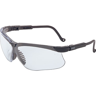 Sperian ANSI Z87 Genesis® Glasses, Uvextreme, Clear/Black