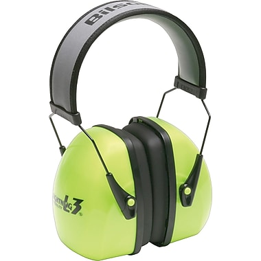 Howard Leightning® Over-The-Head Earmuffs, Bright Green, 30 dB