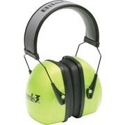 Howard Leightning® Over-The-Head Earmuffs, Bright Green, 30 dB