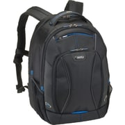 Solo Active Black/Blue Accents Fabric Laptop Backpack (TCC703-4/20)