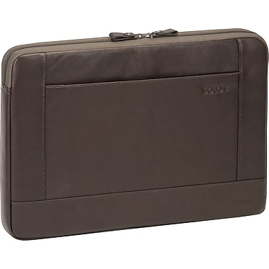 SOLO® Vintage Collection, 16in. Leather Laptop Sleeve,  Espresso