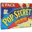 Pop Secret Microwave Popcorn, Extra Butter, 3.5 oz. Bags, 6 Bags/Box