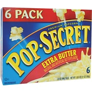 Pop Secret Microwave Popcorn, Extra Butter, 3.5 oz. Bags, 6 Bags/Box