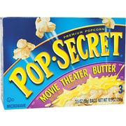 Pop Secret Microwave Popcorn, Movie Theater Butter, 3.5 oz. Bags, 3 Bags/Box