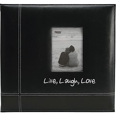 12in. x 12in. Pioneer Embroidered Leatherette Postbound Album,  Live/Laugh/Love