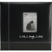 "12"" x 12"" Pioneer Embroidered Leatherette Postbound Album,  Live/Laugh/Love"