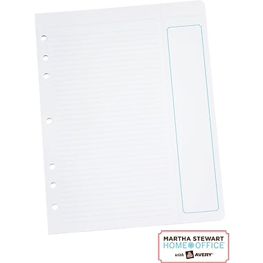 Martha Stewart Home Office™ with Avery™ Filler Paper with Perforated Task List 8-1/2in. x 11in.