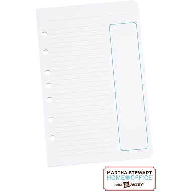 Martha Stewart Home Office™ with Avery™  Project Planner Filler Paper 5-1/2in. x 8-1/2in.