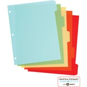 Martha Stewart Home Office™ with Avery™ Plastic Dividers, Assorted, Classic, 5-Tab