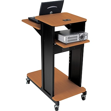 Balt Xtra Long Presentation Cart, Cherry