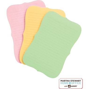 Martha Stewart Home Office™ with Avery™ UltraHold Sticky Notes, Assorted, Flourish, 3-3/4in. x 5-3/4in.