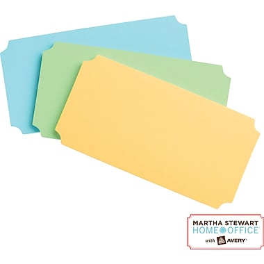Martha Stewart Home Office™ with Avery™ UltraHold Sticky Notes, Classic, Assorted, 1-3/4in. x 3-1/2in.