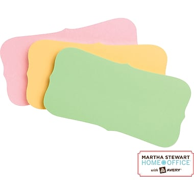Martha Stewart Home Office™ with Avery™ UltraHold Sticky Notes, Assorted, Flourish, 1-3/4in. x 3-1/2in.