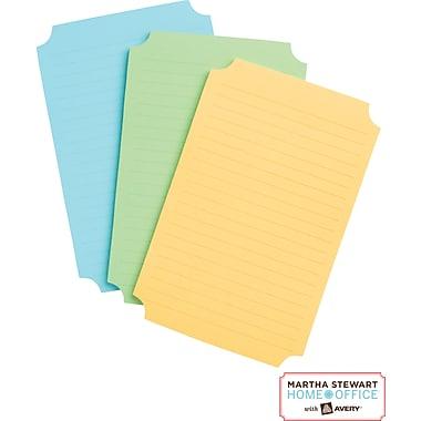 Martha Stewart Home Office™ with Avery™ UltraHold Sticky Notes, Classic, Assorted, 3-3/4in. x 5-3/4in.