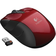 Logitech M525 Wireless Mouse, Red