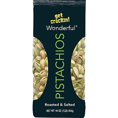 Wonderful® Roasted & Salted Pistachios, 16 oz.