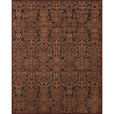 Feizy Soho II Rug, 5'x8', Dark Chocolate/Rust