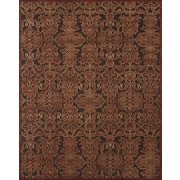 Feizy® Soho II Rug, 8'x11', Dark Chocolate/Rust