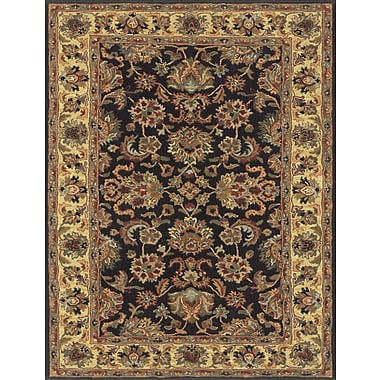 Feizy Wakefield Rug, Black/Gold