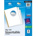 Avery Big Tab Insertable Dividers, 8 Tab, Clear, 8 1/2in. x 11in.