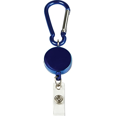 Cosco® MyID™ Blue Anodized Metal Carabiner Card Reel