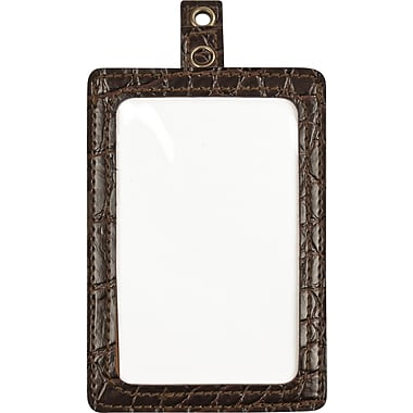 Cosco® MyID™ Brown Crocodile Type ID Badge Holder