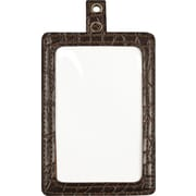 "Cosco® MyID™ Crocodile Brown ID Badge Holder for Key Cards and ID Cards,  4"" x 2 1/2"" Card Holders For Key Cards/ID Cards"