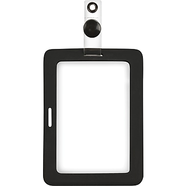 Cosco® MyID™ Black Rubberized ID Badge Holder