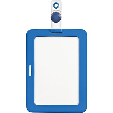 Cosco® MyID™ Blue Rubberized ID Badge Holder
