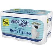 Angel Soft Compact® Coreless Bath Tissue, 12 Rolls/Case